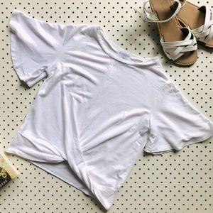 Girls size 10 WITCHERY white twist front top